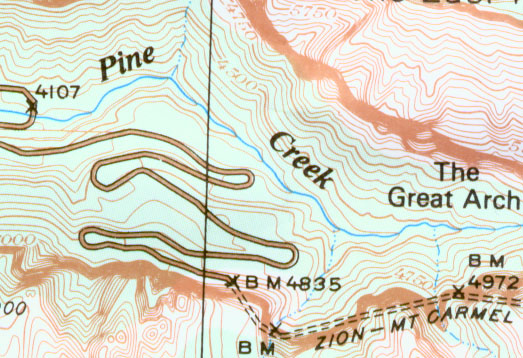 300 dpi scan  from the Trails Illustrated Zion Map